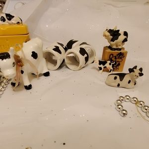 Lot of misc cow decor